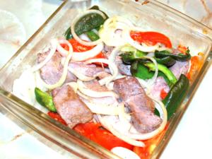 豚ロースと野菜のステーキ風