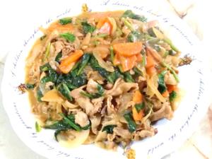 野菜と豚こまの簡単カレールー炒め