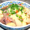 牛コマと根菜の甘辛煮
