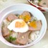 圧力鍋煮豚の温泉卵丼