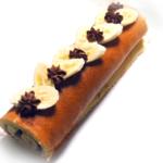 しっとりチョコバナナロールケーキ