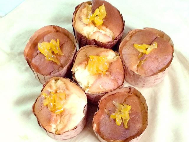柚子ジャムのシフォンカップケーキ