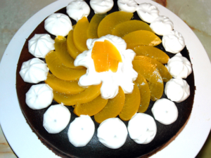 しゅわしゅわのスフレチョコケーキ