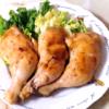 骨付き鶏もも肉の醤油ソテー