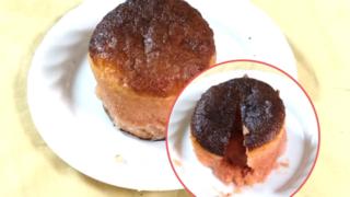 苺チョコのフォンダンショコラ風ケーキ