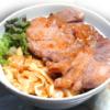 豚ロースの味噌トンテキ丼