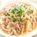 豚バラ薄切り肉の味噌生姜焼き
