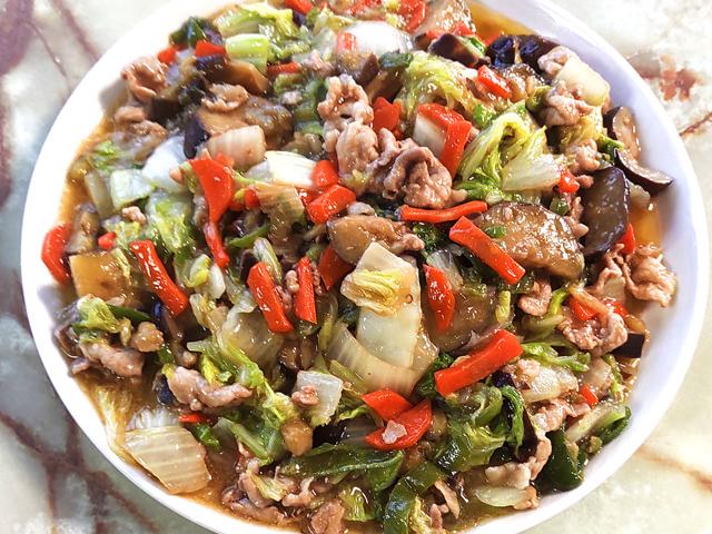 肉野菜のオイマヨあんかけ