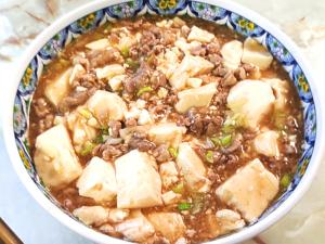 豚こま肉と絹ごしで作る麻婆豆腐