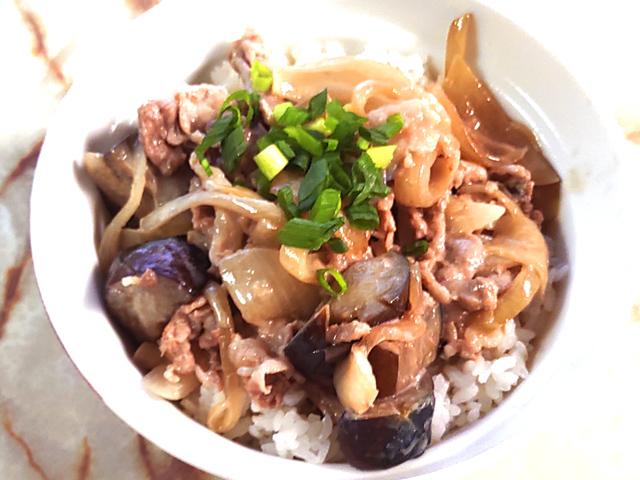 豚こまと野菜の照り焼きマヨ丼