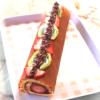苺と濃厚チョコのクリームロール