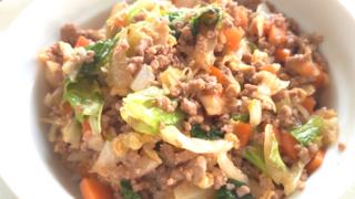 ひき肉たっぷりのスタミナ野菜丼