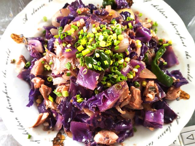 ほっけと紫キャベツのちゃんちゃん焼き