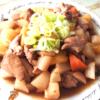 レンジで時短!鶏モモと根菜の甘辛炒め