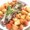オーブンで簡単!豚ロース肉と根菜の照り焼き風