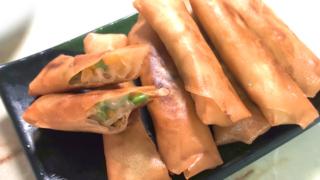 枝豆とコーンチーズのパリパリ春巻き