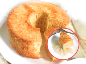 シンプルな梨のシフォンケーキ